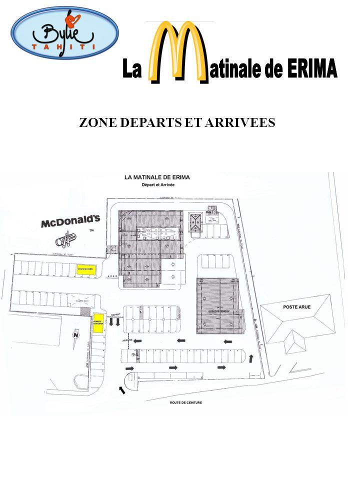 La atinale de ERIMA ZONE DEPARTS ET ARRIVEES