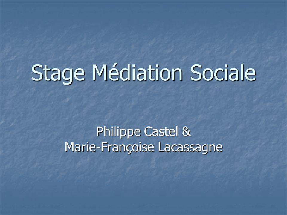 Stage Médiation Sociale
