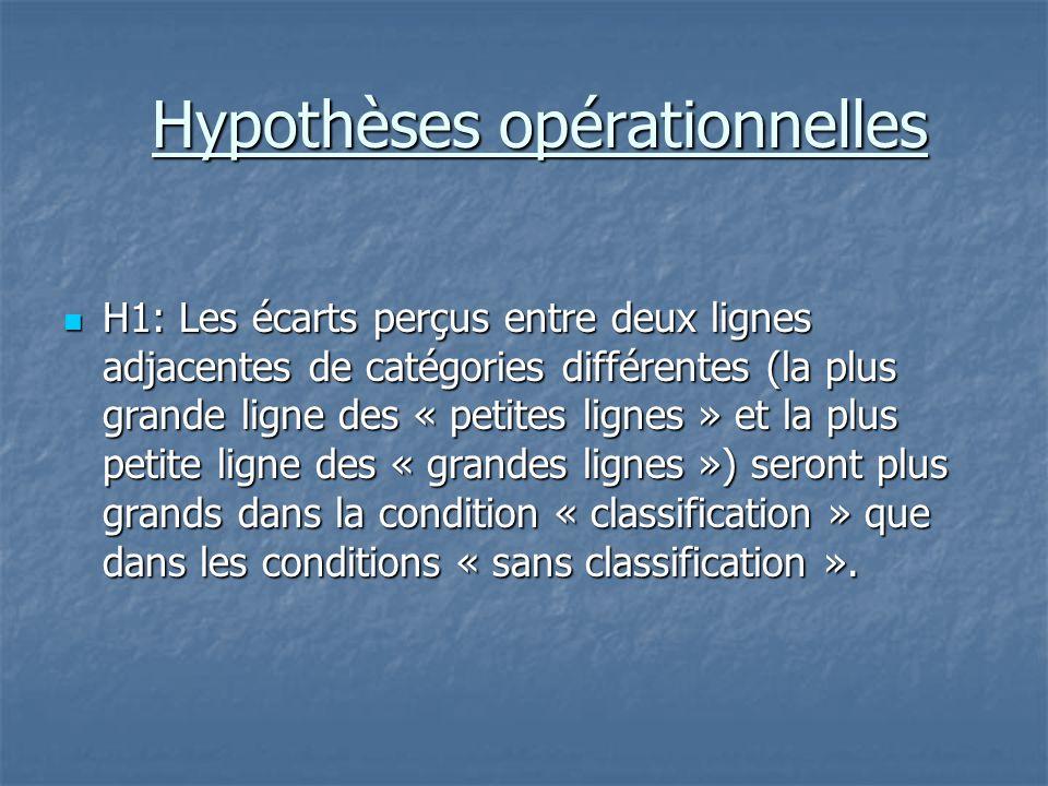 Hypothèses opérationnelles