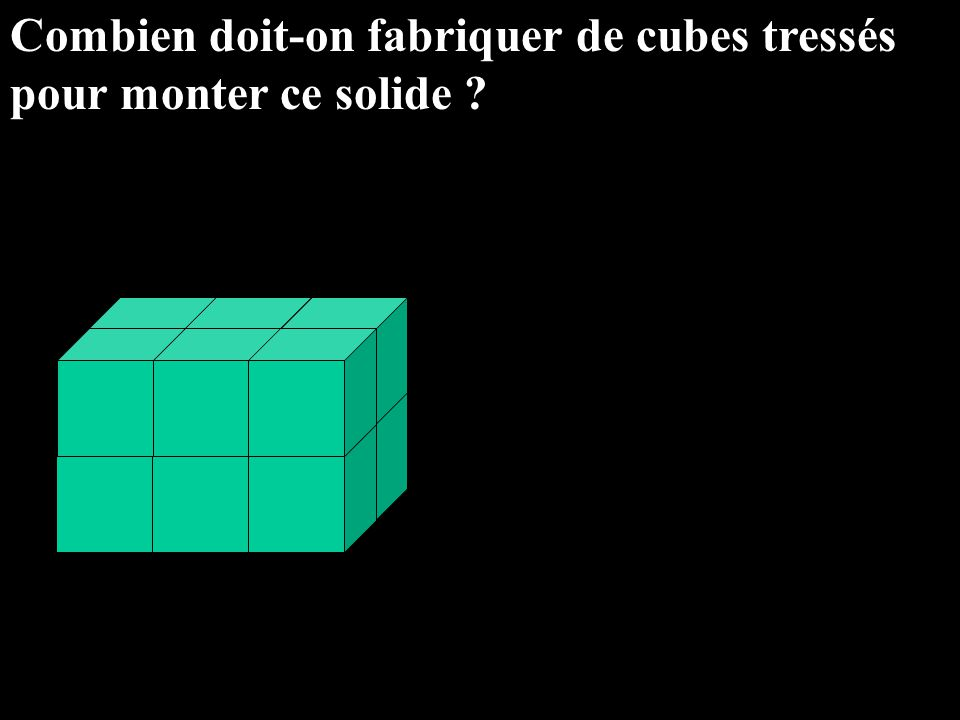 Combien doit-on fabriquer de cubes tressés
