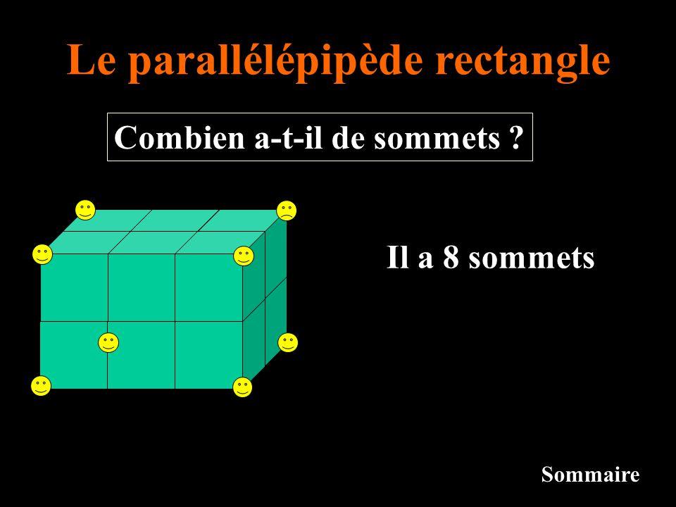 Le parallélépipède rectangle Combien a-t-il de sommets