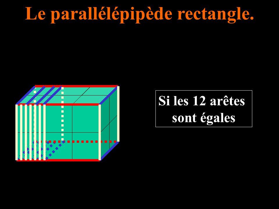 Le parallélépipède rectangle.