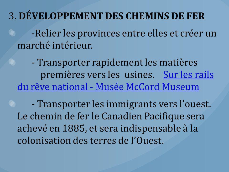 3. DÉVELOPPEMENT DES CHEMINS DE FER