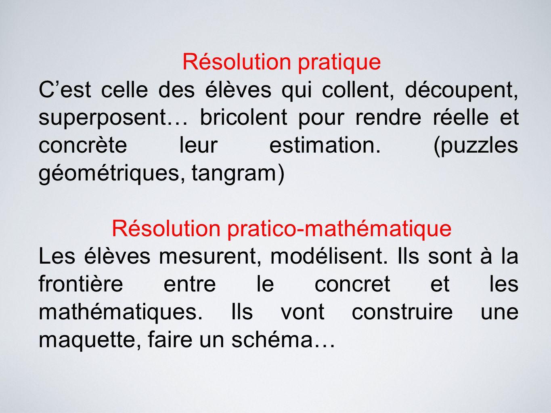 Résolution pratico-mathématique