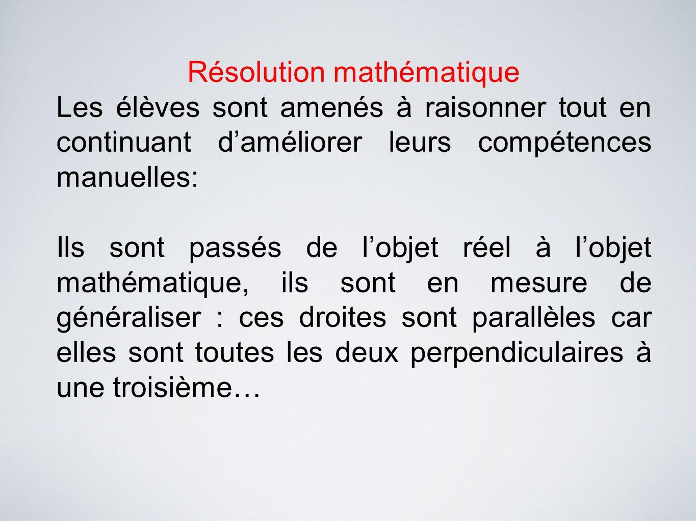Résolution mathématique