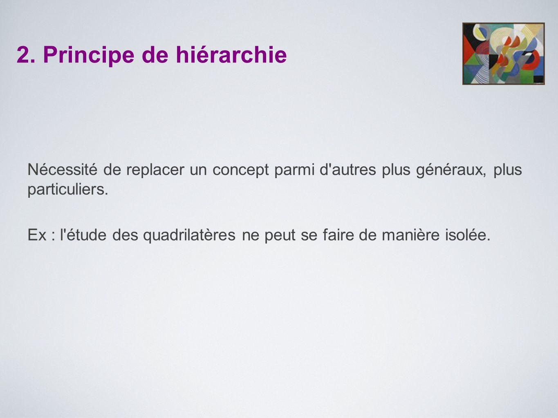 2. Principe de hiérarchie