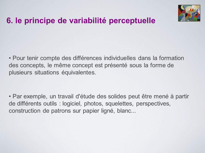 6. le principe de variabilité perceptuelle