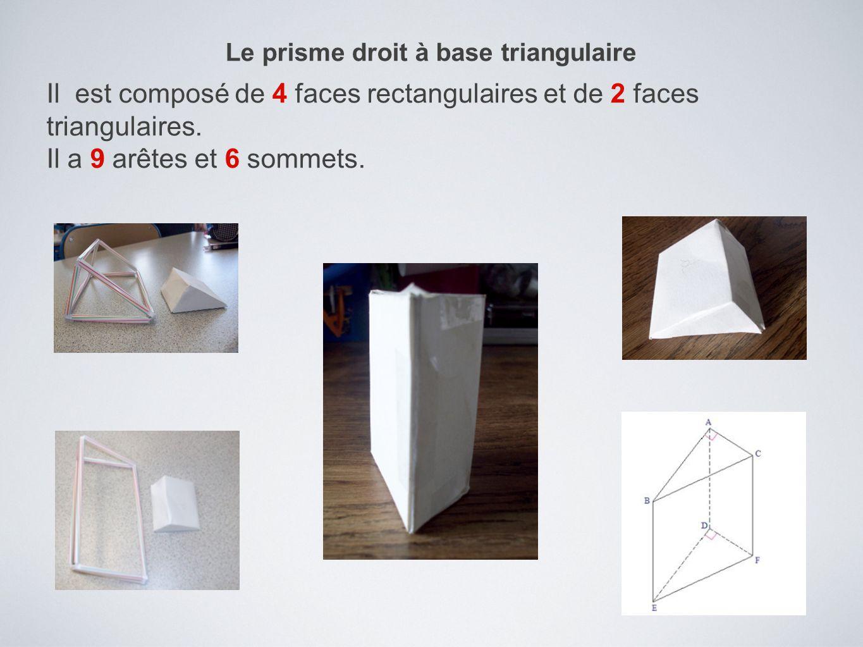 Le prisme droit à base triangulaire