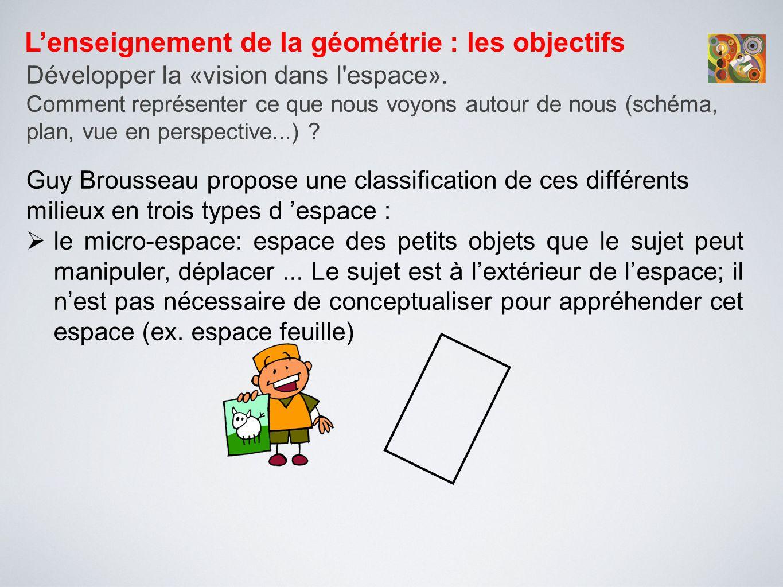 L'enseignement de la géométrie : les objectifs