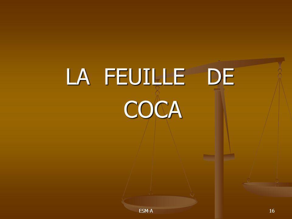 LA FEUILLE DE COCA ESM-A
