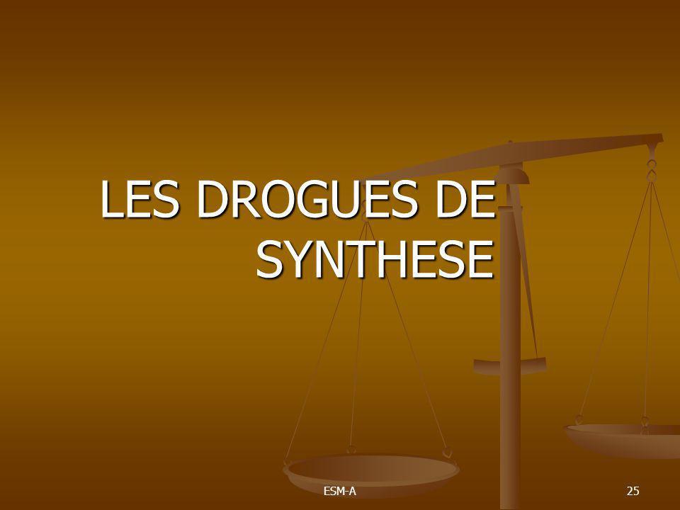 LES DROGUES DE SYNTHESE