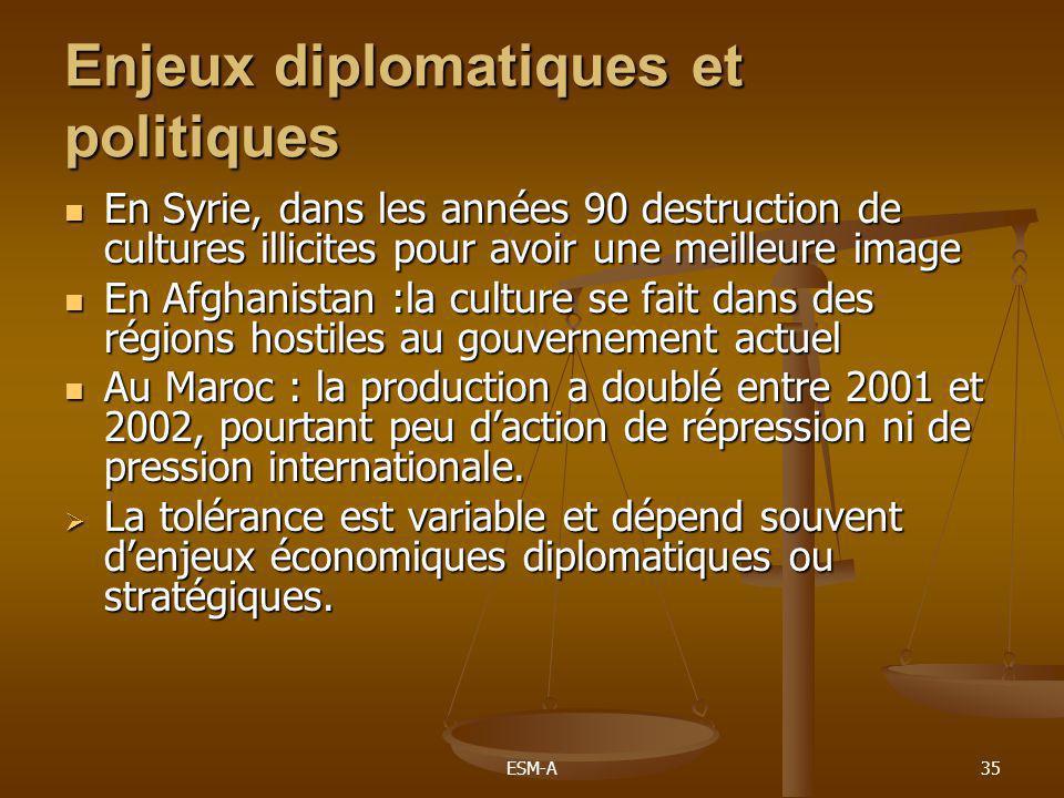 Enjeux diplomatiques et politiques