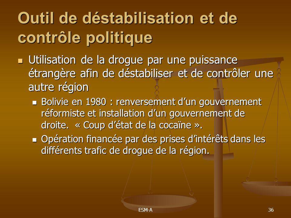 Outil de déstabilisation et de contrôle politique