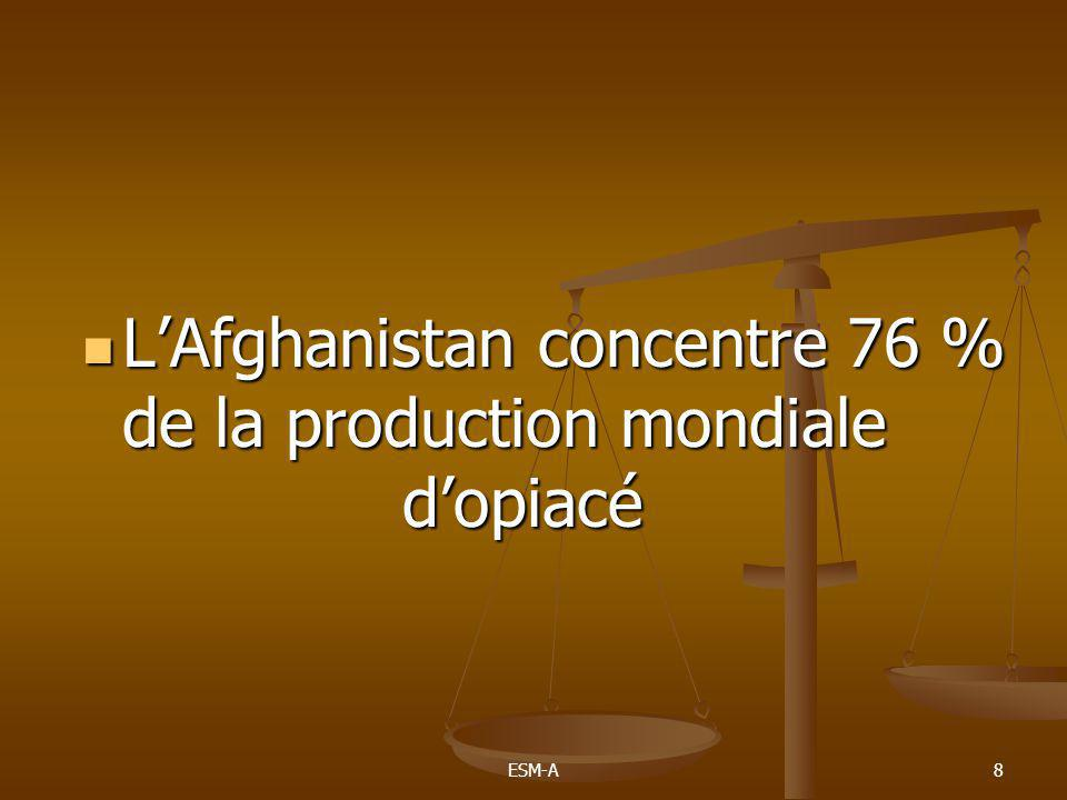 L'Afghanistan concentre 76 % de la production mondiale d'opiacé