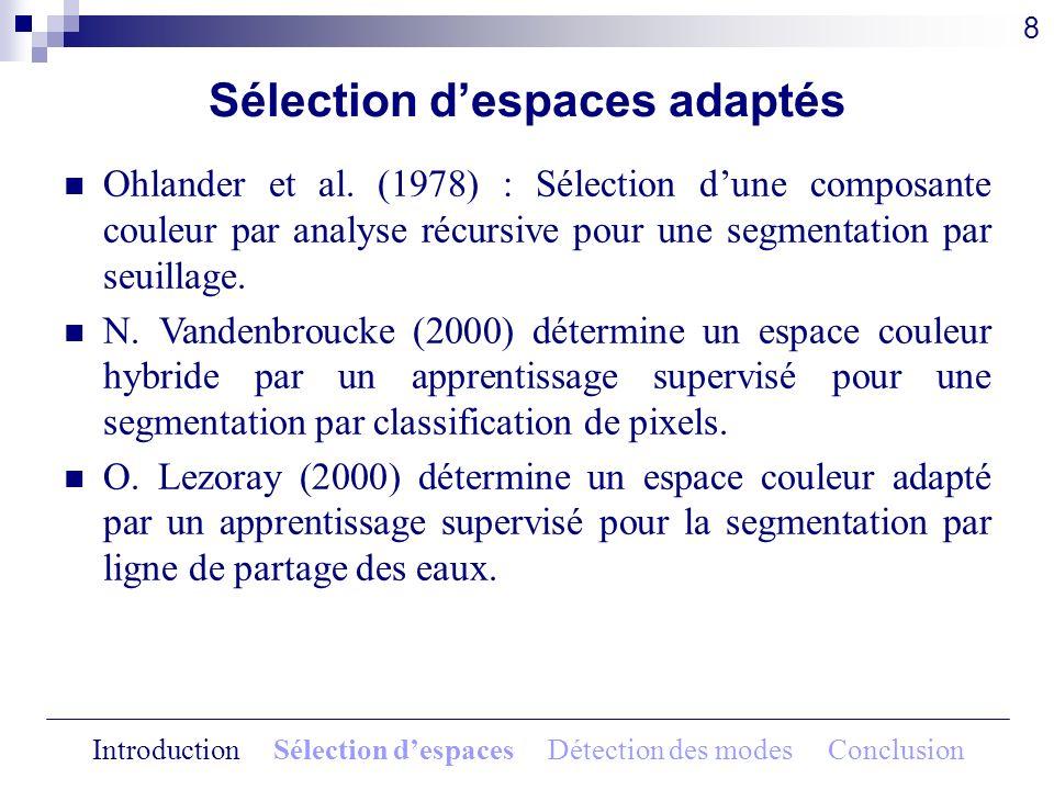 Sélection d'espaces adaptés