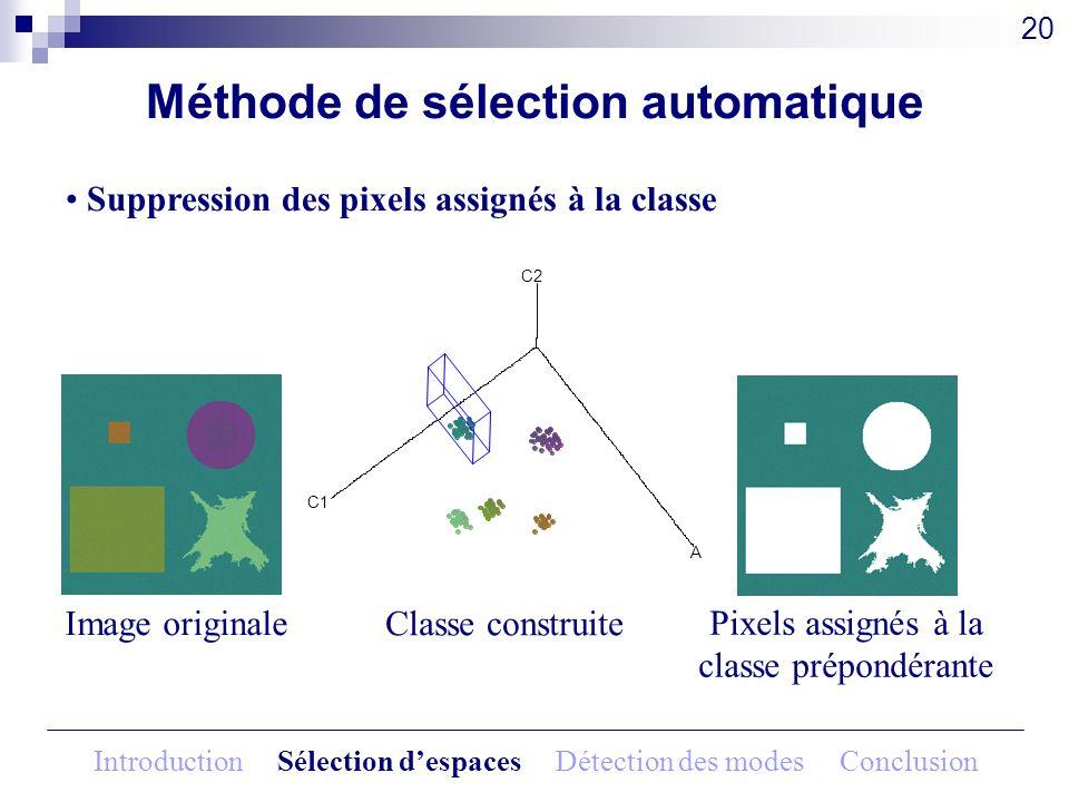 Méthode de sélection automatique