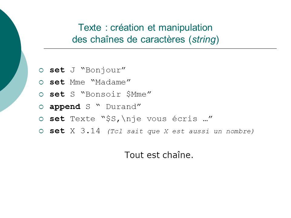 Texte : création et manipulation des chaînes de caractères (string)