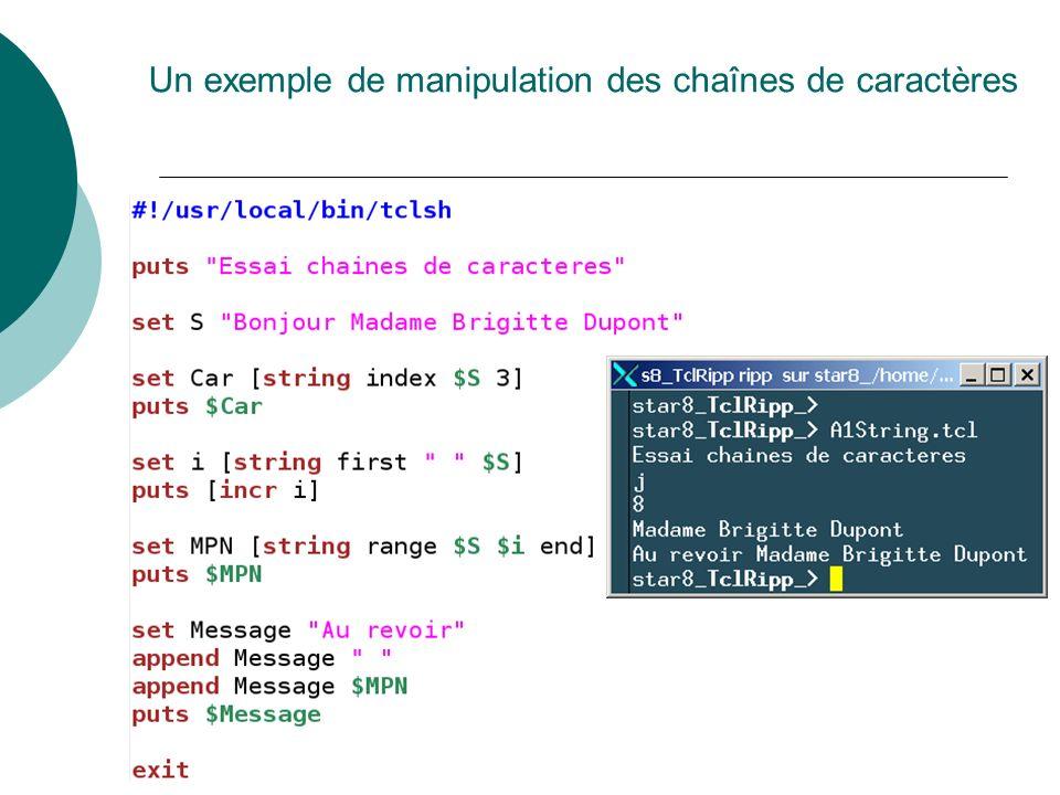 Un exemple de manipulation des chaînes de caractères
