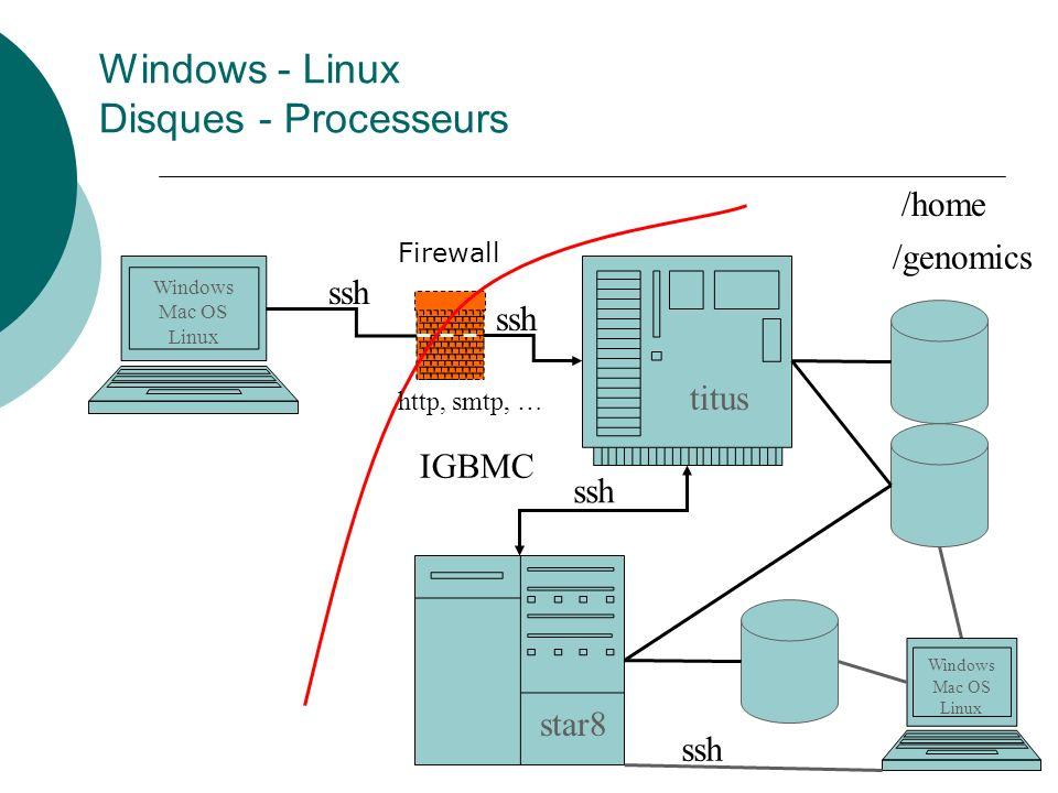 Windows - Linux Disques - Processeurs