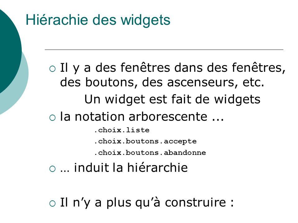 Un widget est fait de widgets