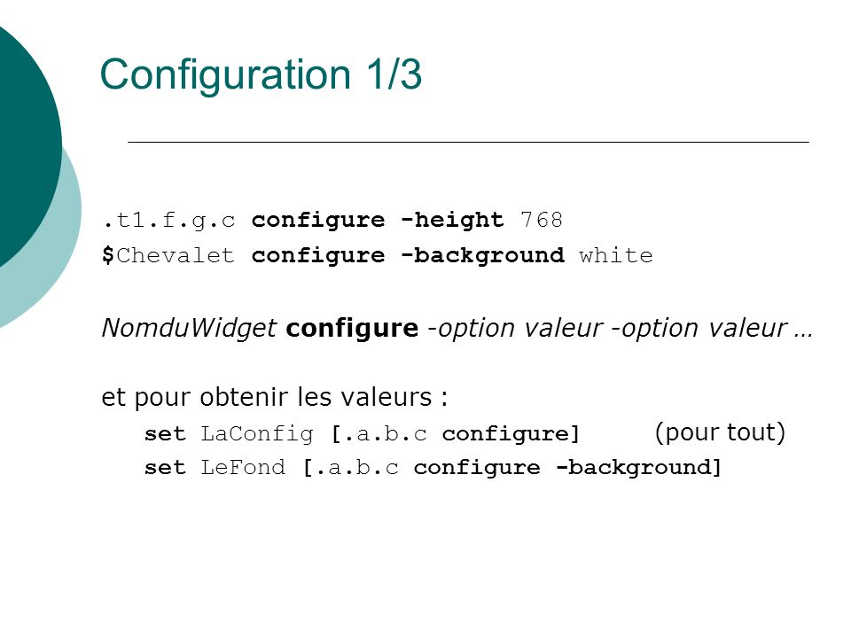 Configuration 1/3 .t1.f.g.c configure -height 768