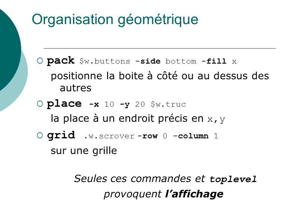 Organisation géométrique