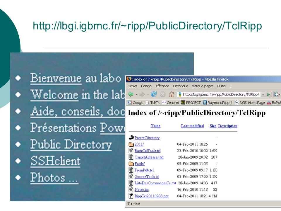 http://lbgi.igbmc.fr/~ripp/PublicDirectory/TclRipp Détail de la page web et de PublicDirectory/TclRipp.