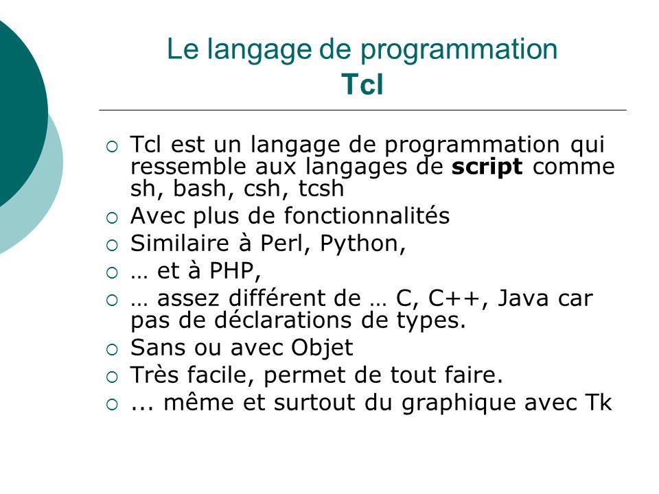 Le langage de programmation Tcl