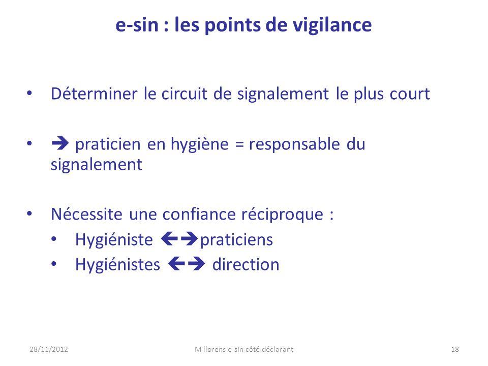 e-sin : les points de vigilance