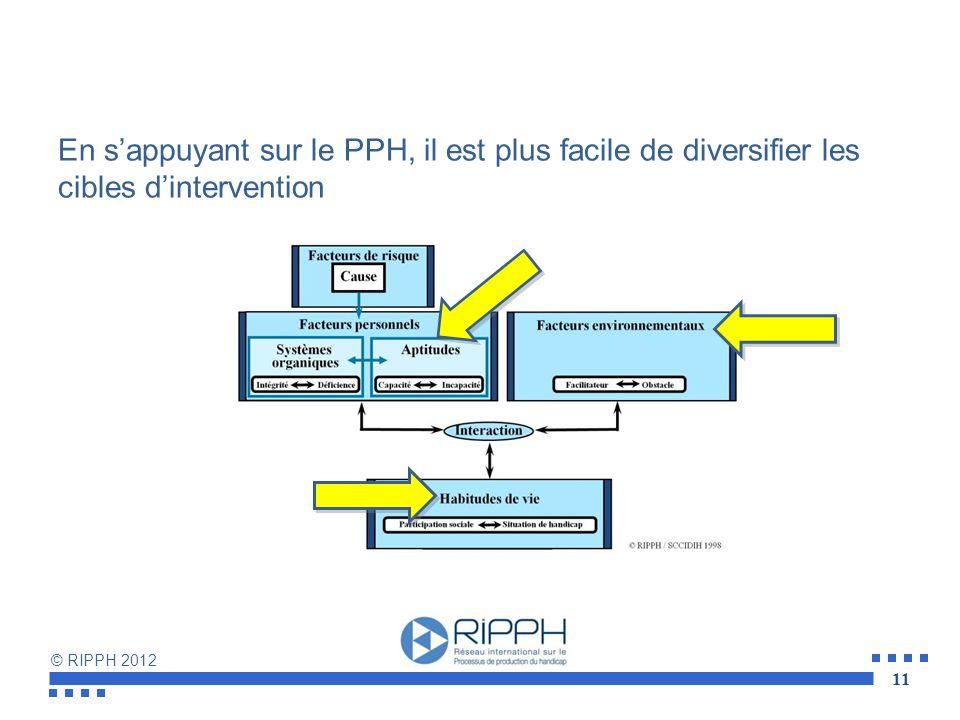 En s'appuyant sur le PPH, il est plus facile de diversifier les cibles d'intervention