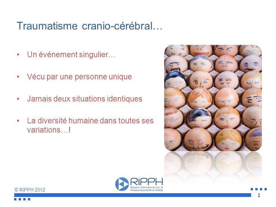 Traumatisme cranio-cérébral…