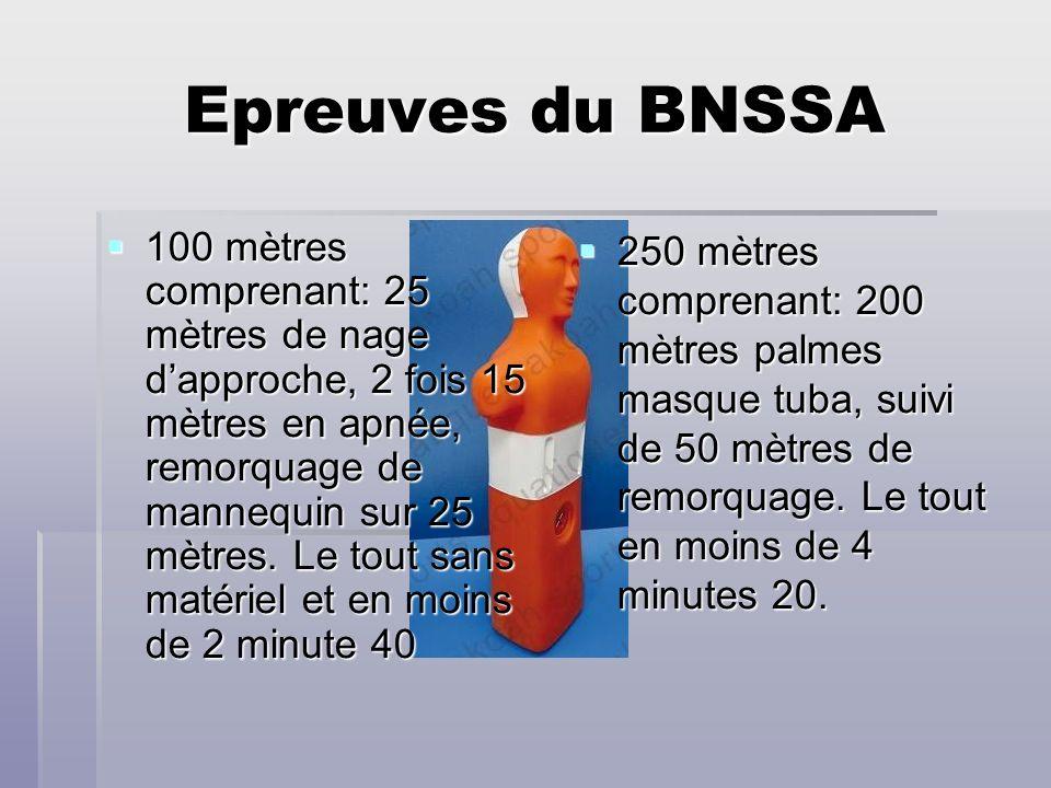 Epreuves du BNSSA