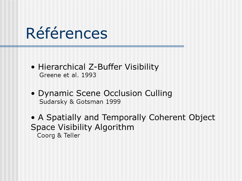 Références Hierarchical Z-Buffer Visibility