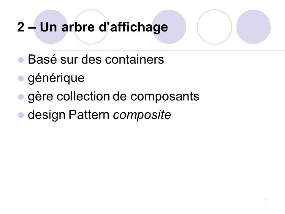 2 – Un arbre d affichage Basé sur des containers générique