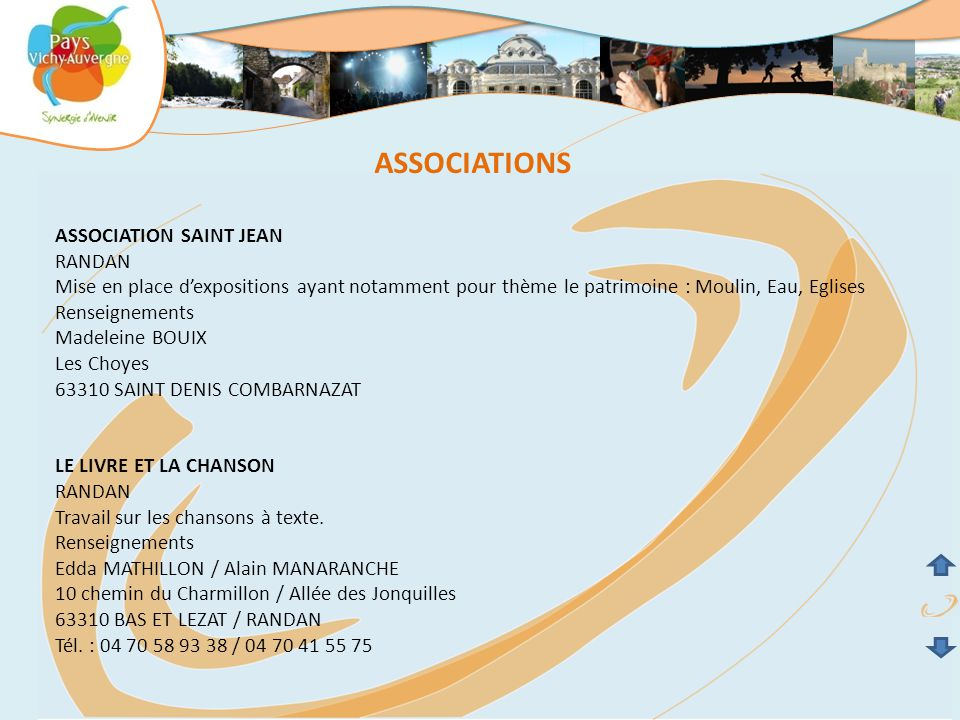 ASSOCIATIONS ASSOCIATION SAINT JEAN RANDAN