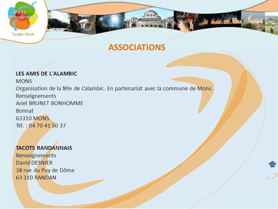 ASSOCIATIONS LES AMIS DE L ALAMBIC MONS