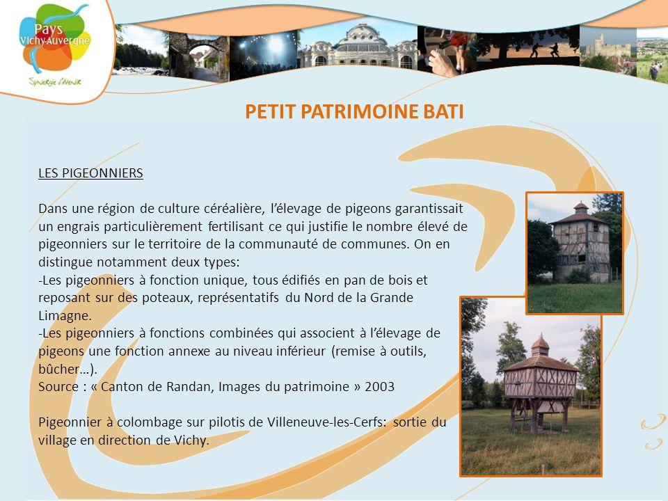 PETIT PATRIMOINE BATI LES PIGEONNIERS