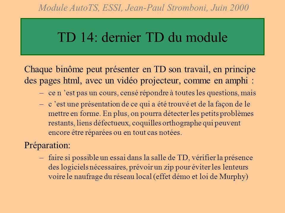 TD 14: dernier TD du module
