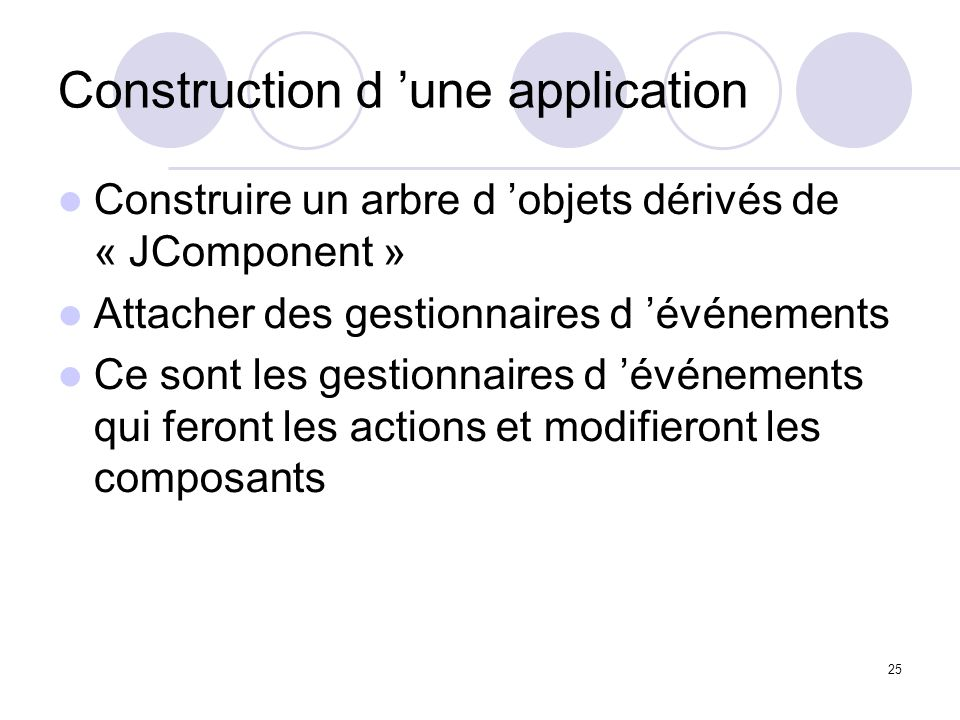 Construction d 'une application