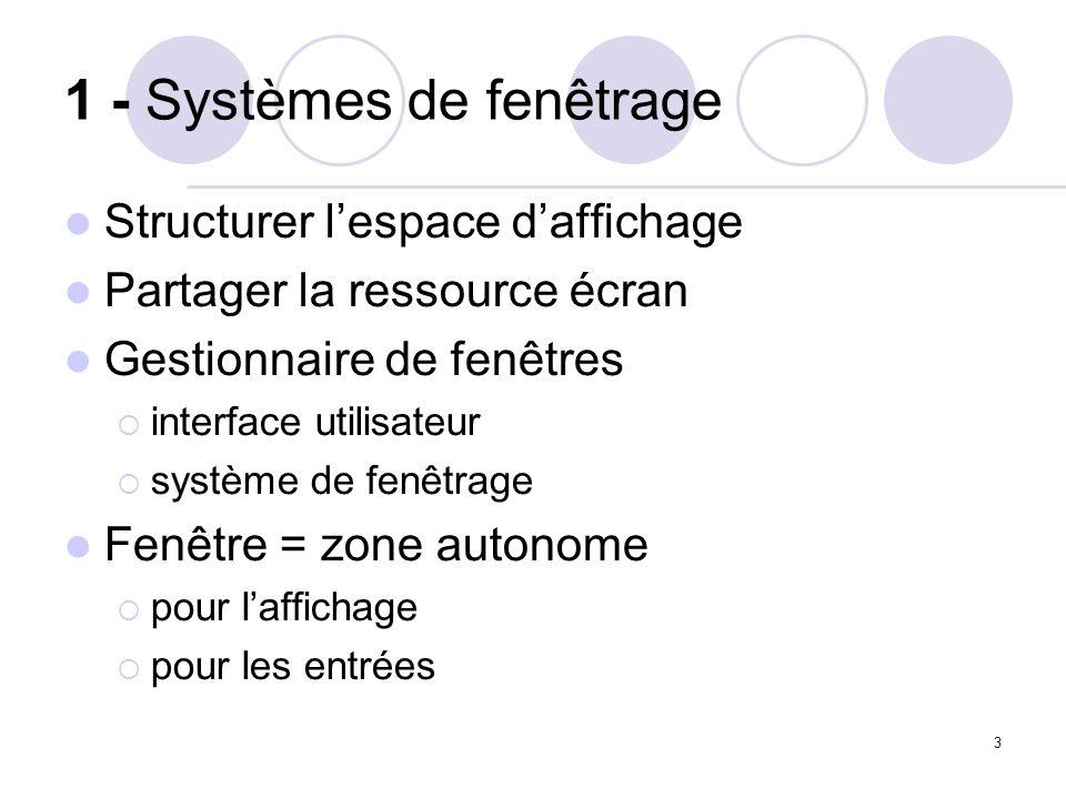 1 - Systèmes de fenêtrage