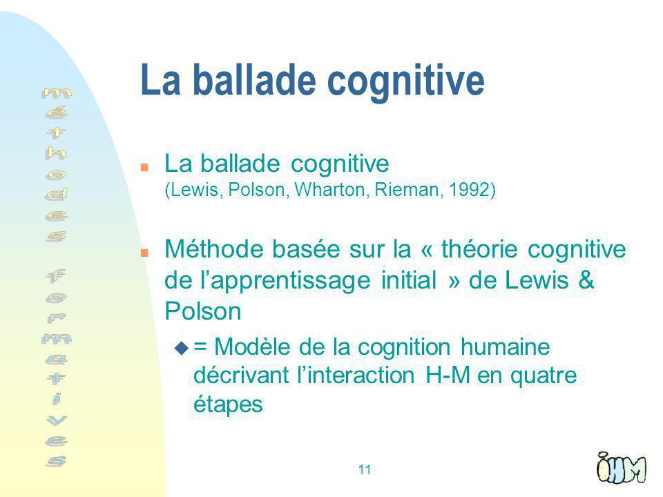 La ballade cognitive méthodes formatives