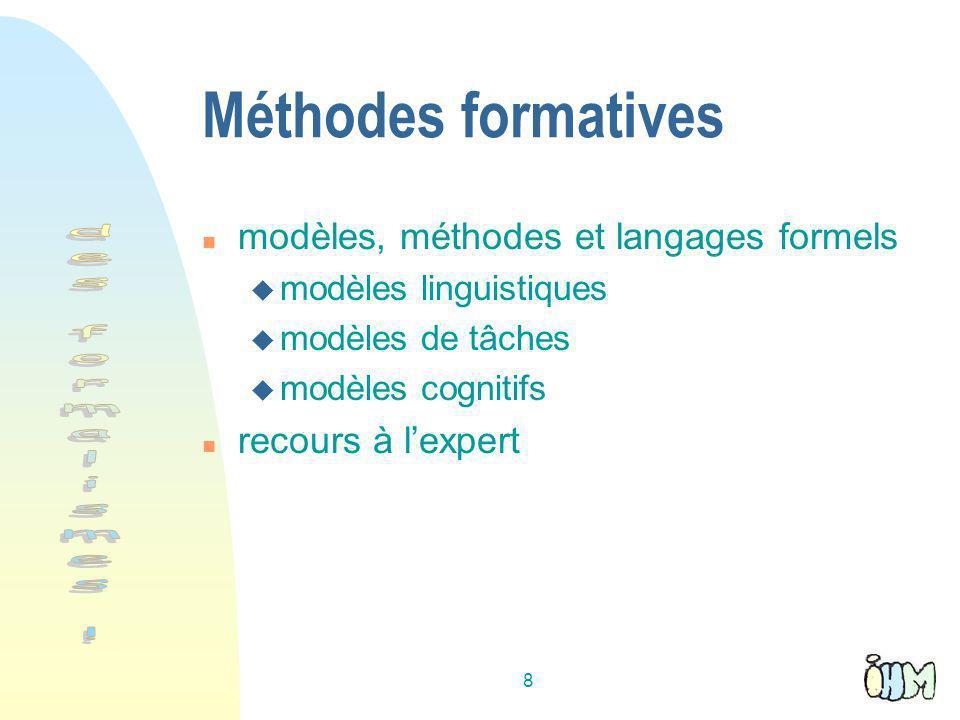 Méthodes formatives des formalismes !