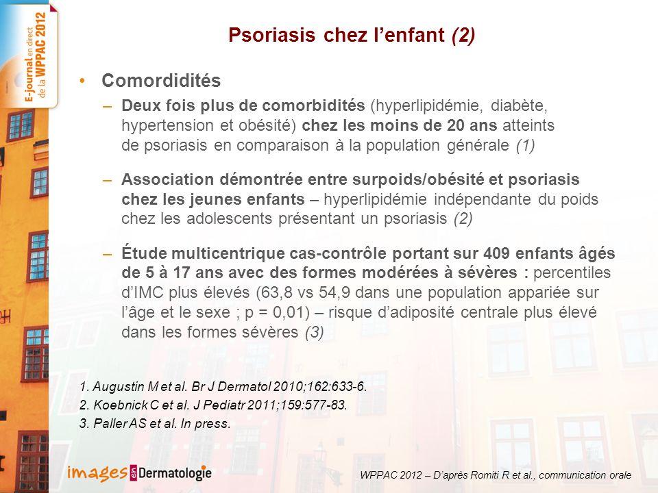 Psoriasis chez l'enfant (2)