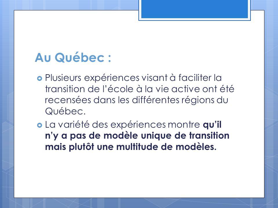 Au Québec :