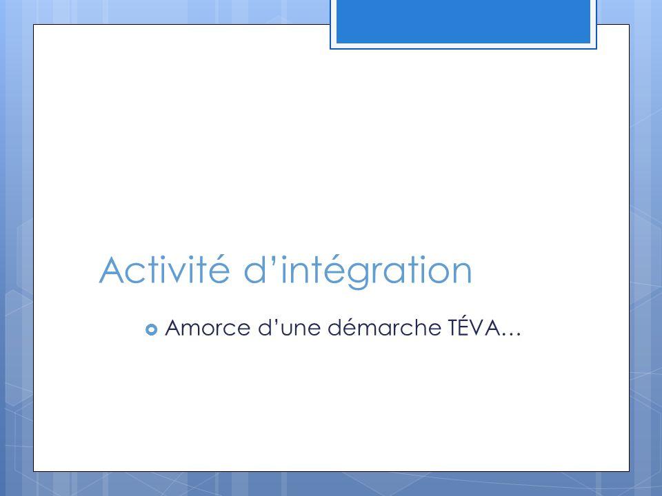 Activité d'intégration