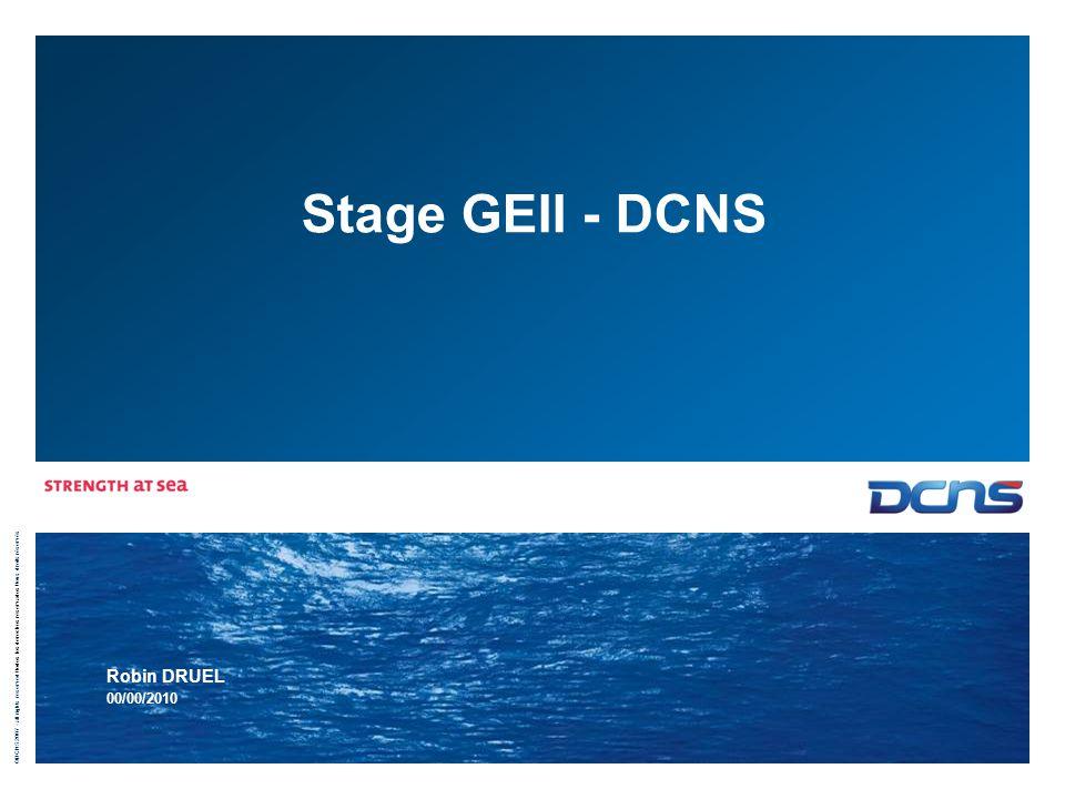 Stage GEII - DCNS Robin DRUEL 00/00/2010