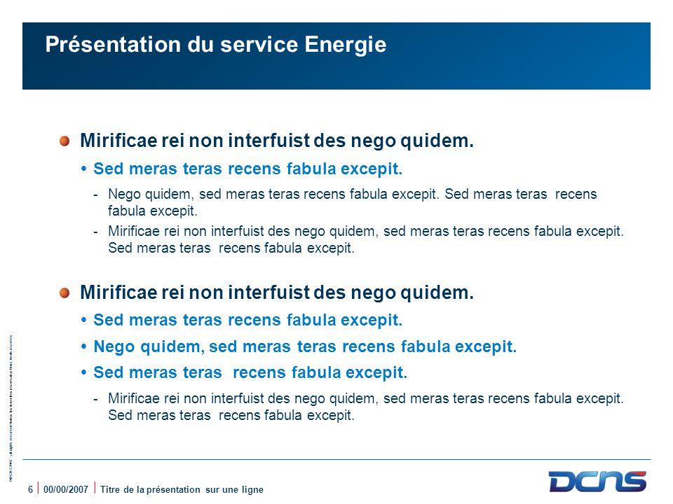 Présentation du service Energie