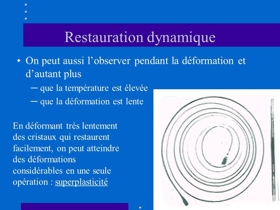 Restauration dynamique