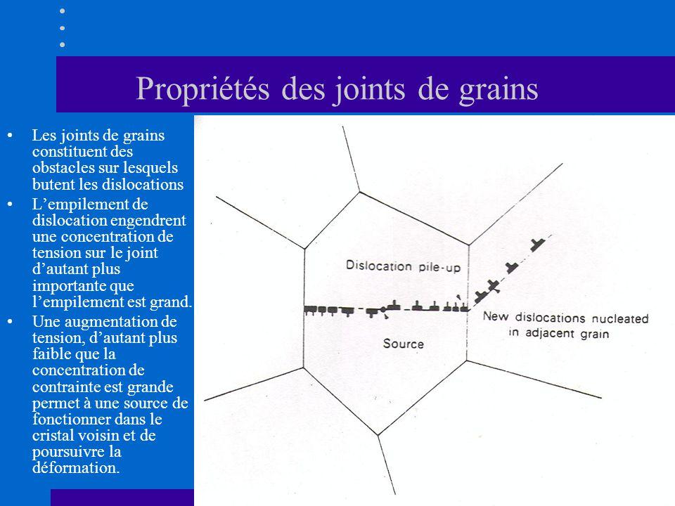 Propriétés des joints de grains