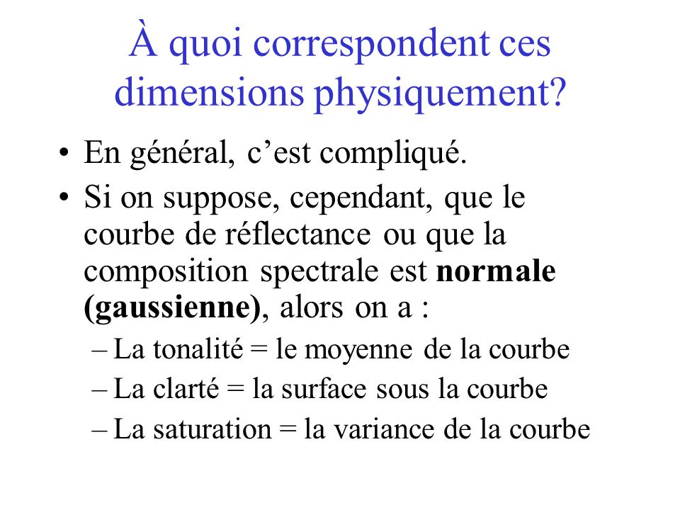 À quoi correspondent ces dimensions physiquement